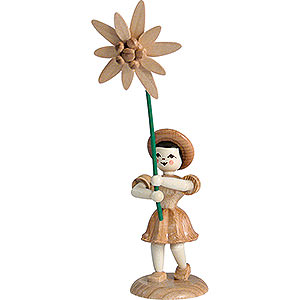 Small Figures & Ornaments Flower children Flower Child Edelweiss, Natural - 12 cm / 4.7 inch