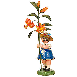 Small Figures & Ornaments Hubrig Flower Kids Flower Child Girl with Lily - 17 cm / 7 inch