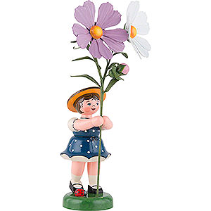 Small Figures & Ornaments Hubrig Flower Kids Flower Child with Cosmea - 24 cm / 9,5 inch
