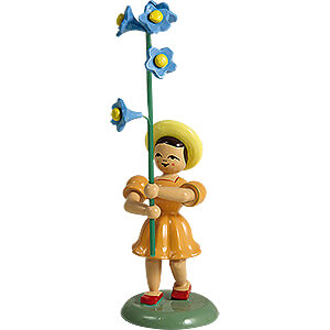 Small Figures & Ornaments Flower children Flower Child with Forget-Me-Not, Colored - 11,5 cm / 4.5 inch