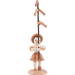 Small Figures & Ornaments Flower children Flower Child with Hazelnut Bloom - Natural - 12 cm / 4.7 inch