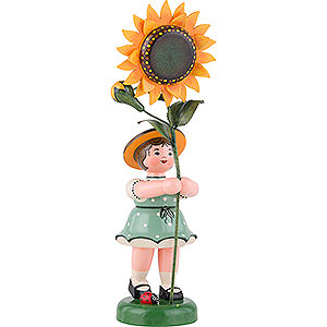 Small Figures & Ornaments Hubrig Flower Kids Flower Child with Sunflower - 24 cm / 9,5 inch