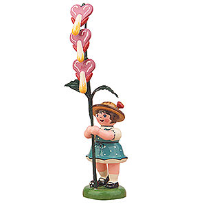 Small Figures & Ornaments Hubrig Flower Kids Flower Girl with Bleeding Heart - 11 cm / 4,3 inch
