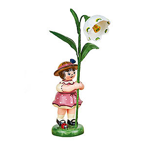 Small Figures & Ornaments Hubrig Flower Kids Flower Girl with Daffodils of March - 11 cm / 4,3 inch