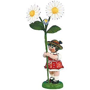 Small Figures & Ornaments Hubrig Flower Kids Flower Girl with Daisies - 11 cm / 4,3 inch