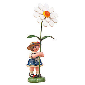 Small Figures & Ornaments Hubrig Flower Kids Flower Girl with Daisy - 11 cm / 4,3 inch