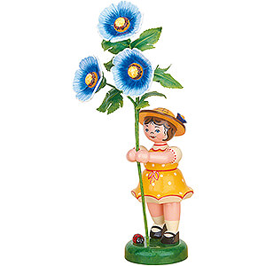 Small Figures & Ornaments Hubrig Flower Kids Flower Girl with Hollyhock - 24 cm / 9.4 inch