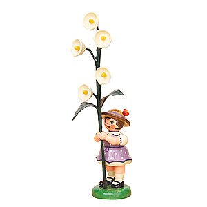 Small Figures & Ornaments Hubrig Flower Kids Flower Girl with Lily of the Valley - 11 cm / 4,3 inch