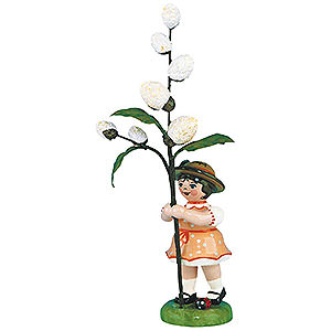 Small Figures & Ornaments Hubrig Flower Kids Flower Girl with May Kitten - 11 cm / 4,3 inch