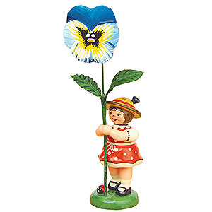 Small Figures & Ornaments Hubrig Flower Kids Flower Girl with Pansy - 11 cm / 4,3 inch