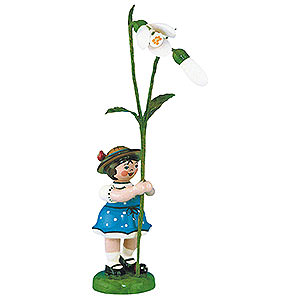 Small Figures & Ornaments Hubrig Flower Kids Flower Girl with Snowdrops - 11 cm / 4,3 inch