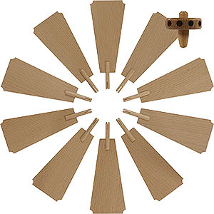 Weihnachtspyramiden Zubehör & Kerzen Flügelrad für Weihnachtspyramide - Durchmesser = 35 cm