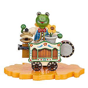 Kleine Figuren & Miniaturen Hubrig Käfer Frosch - Drehorgelspieler - 8 cm