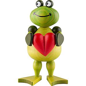 Kleine Figuren & Miniaturen Martin Tierfiguren Frosch Freddy mit Herz - 11 cm