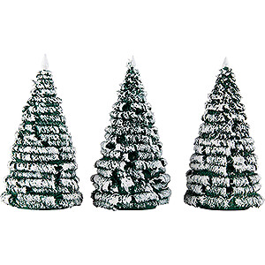 Small Figures & Ornaments Decorative Trees Frosted Trees - Green-White - 3 pieces - 10 cm / 3.9 inch