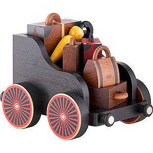 Räuchermänner KWO Eisenbahn Gepäckwagen für Eisenbahn - 12 cm