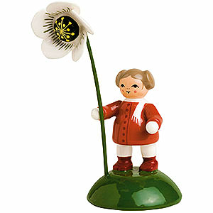 Small Figures & Ornaments Flower children Girl with Christmas Rose - 6 cm / 2.4 inch