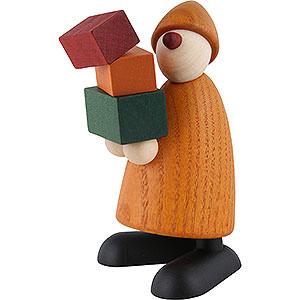 Kleine Figuren & Miniaturen Björn Köhler Gratulanten Gratulant Felix, Geschenke tragend, gelb - 9 cm