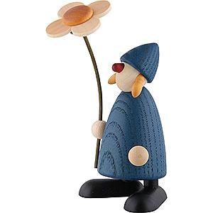 Kleine Figuren & Miniaturen Björn Köhler Gratulanten Gratulantin Susi mit Blume stehend, blau - 9 cm