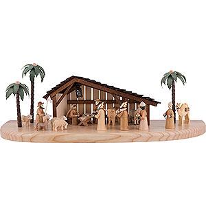 Kleine Figuren & Miniaturen Krippen Große Weihnachtskrippe elektrisch beleuchtet