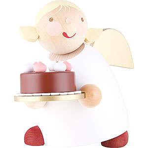 Angels Reichel Guardian Angels large Guardian Angel with Fancy Cake - 16 cm / 6.3 inch