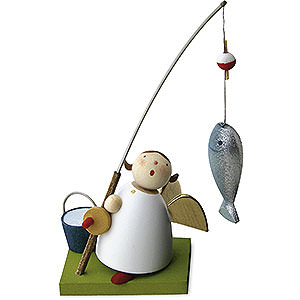Angels Reichel Guardian Angels Guardian Angel with Fish - 3,5 cm / 1.3 inch