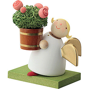 Angels Reichel Guardian Angels Guardian Angel with Rose Flower Pot - 3,5 cm / 1.3 inch