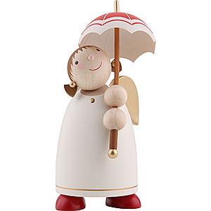 Angels Reichel Guardian Angels medium Guardian Angel with Umbrella, Beige - 8 cm / 3.1 inch