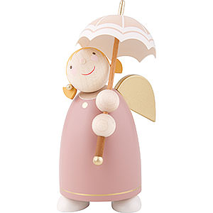 Angels Reichel Guardian Angels medium Guardian Angel with Umbrella, Rose Wood - 8 cm / 3.1 inch