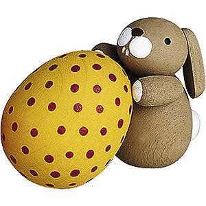 Kleine Figuren & Miniaturen Günter Reichel Osterhasen Häschen mit Ei - 2,7 cm