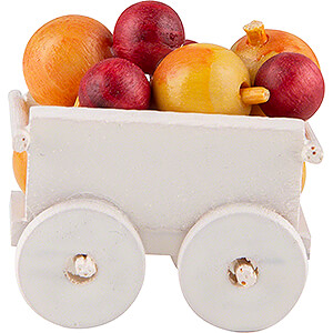 Small Figures & Ornaments Flade Flax Haired Children Hand Cart with Apples - 2,4 cm / 0.9 inch