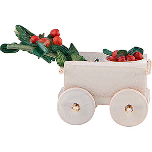 Small Figures & Ornaments Flade Flax Haired Children Hand Cart with Cherries - 2 cm / 0.8 inch