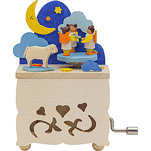 Music Boxes Misc. Motifs Hand Crank Music Box Moon Angel - 10 cm / 3.9 inch