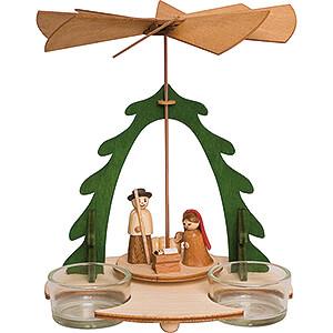 Christmas-Pyramids 1-tier Pyramids Handicraft Set - 1-Tier Pyramid - Nativity - 18 cm / 7.1 inch