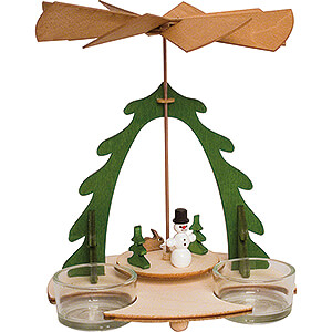 Christmas-Pyramids 1-tier Pyramids Handicraft Set - 1-Tier Pyramid - Snowman - 18 cm / 7.1 inch