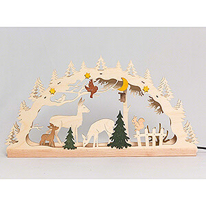 Candle Arches Fret Saw Work Handicraft Set - Candle Arch - Forest - 55x27 cm / 21.7x10.6 inch