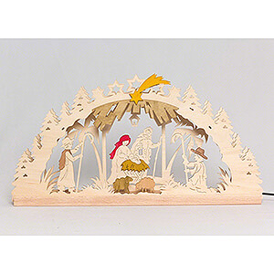 Candle Arches Fret Saw Work Handicraft Set - Candle Arch - Nativity - 55x27 cm / 21.7x10.6 inch