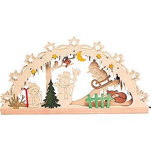 Candle Arches Fret Saw Work Handicraft Set - Candle Arch - Snowman - 55x27 cm / 21.7x10.6 inch