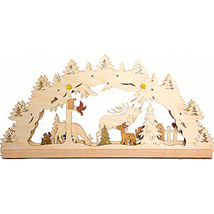Candle Arches Fret Saw Work Handicraft Set - Light Arch Forest - LED - 55x27 cm / 21.7x10.6 inch