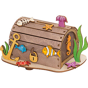 Small Figures & Ornaments everything else Handicraft Set - Money Box - Pirate Treasure Chest - 10 cm / 3.9 inch