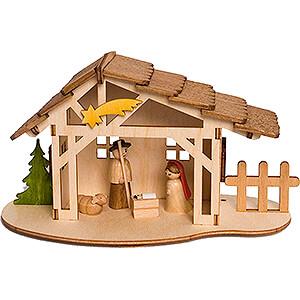 Small Figures & Ornaments Nativity Scenes Handicraft Set - Nativity Stable - 10 cm / 3.9 inch