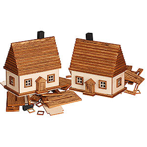 Small Figures & Ornaments everything else Handicraft Set Ore Mountain Cabin, 2 pcs. - 6 cm / 2.4 inch