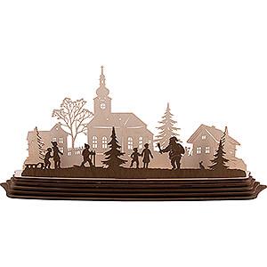 World of Light Candle Holder Santa Claus Handicraft Set - Tea Light Holder - Magic of Christmas - 57x25,5 cm / 22.4x10 inch