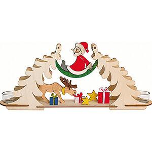 World of Light Candle Holder Santa Claus Handicraft Set - Tea Light Holder-  Santa with Moose - 12 cm / 4.7 inch