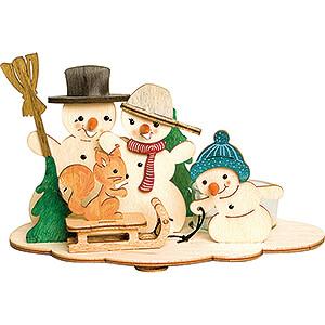 World of Light Candle Holder Misc. Candle Holders Handicraft Set - Tea Light Holder - Snowman - 10,5 cm / 4.1 inch