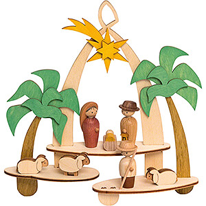 World of Light Window-Pictures Handicraft Set - Window Picture - Nativity - 18 cm / 7.1 inch