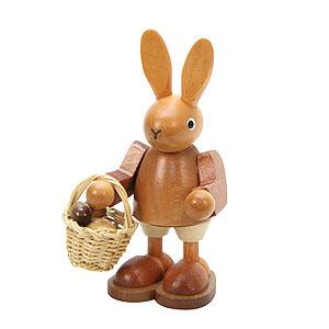 Kleine Figuren & Miniaturen Tiere Hasen Hase mit Eierkorb natur - 9,0 cm