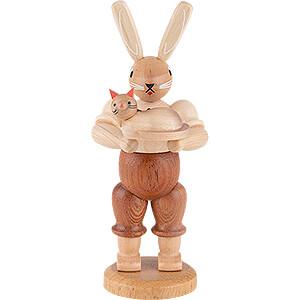 Kleine Figuren & Miniaturen Tiere Hasen Hase mit Katze - 11 cm