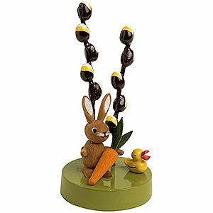 Kleine Figuren & Miniaturen Tiere Hasen Hase mit Maikätzchen - 7 cm
