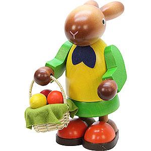 Kleine Figuren & Miniaturen Tiere Hasen Hasenfrau mit Eierkorb - 16,5 cm